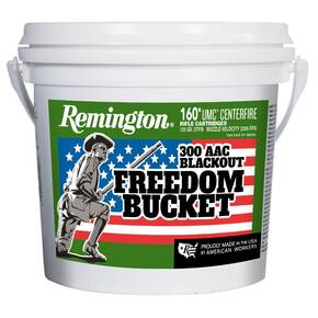 Remington UMC Freedom Bucket Rifle Ammunition .300 AAC Blackout 120 gr OTFB 160/ct