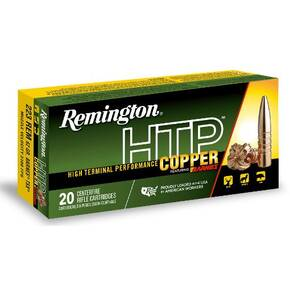 Remington HTP Copper Rifle Ammunition .223 Rem 62 gr TSX 20/rd