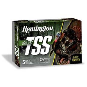 "Remington Premier TSS turkey Load Shotshell 12ga 3"" 1-3/4oz 1200 fps #9 5/ct"
