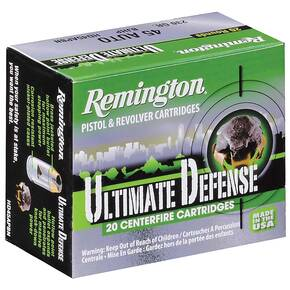 Remington Handgun Defense Ammunition .45 Auto 230 gr BJHP 875 fps 20/Box