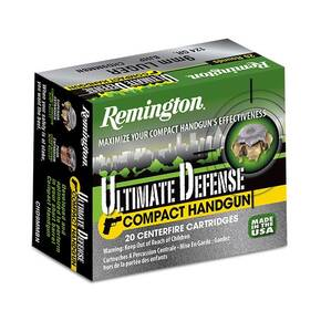 Remington Ultimate Defense Compact Handgun Ammunition .45 ACP 230 gr BJHP  20/box