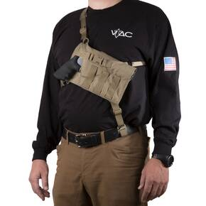 Viking Tactics Big Rig Chest Holster for Revolvers Coyote Tan