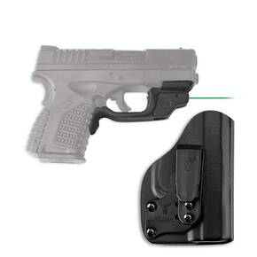Crimson Trace Laserguard LG-469/GH Green Laser with Blade-Tech Klipt IWB Holster for Springfield XD-S