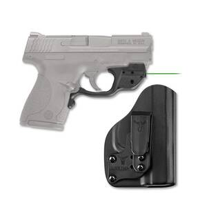 Crimson Trace Laserguard LG-469/GH Green Laser with Blade-Tech Klipt IWB Holster for S&W M&P Shield