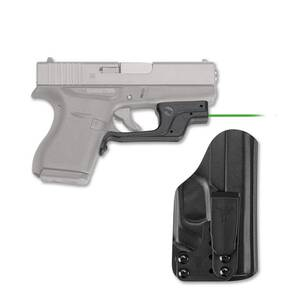 Crimson Trace Laserguard LG-443GH Green Laser with Blade-Tech IWB Holster for Glock 43