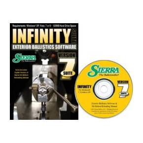 Sierra Infinity Suite Version 7 (CD-ROM) Exterior Ballistic Software & 5th Edition Reloading Manual