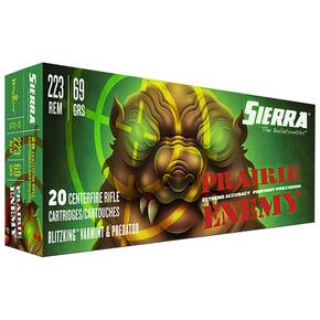 Sierra Prairie Enemy Rifle Ammunition .223 Rem 69 gr BlitzKing 20/ct