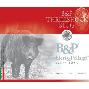 B&P ThrillShock Slug Shotshells- 12 ga 2-3/4 In 1-1/8 oz 1500 fps 10/ct