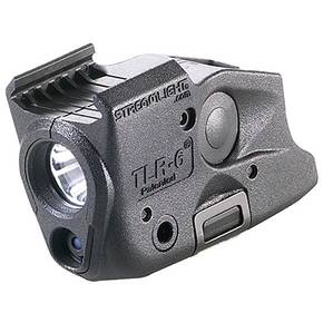 Streamlight TLR6 Rail Mount for GLOCK - Rail-Mounted Tactical Light With Integrated Red Aiming Laser