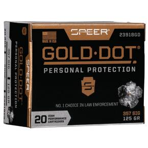 Speer Gold Dot Handgun Ammunition .357 Sig 125 gr HP 1350 fps 20/ct
