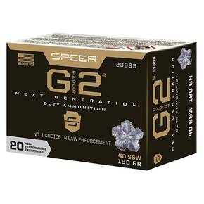 Speer Gold Dot Handgun Ammunition 40 S&W 180gr G2 1015 fps 20/ct