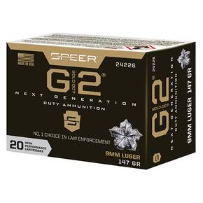 Speer Gold Dot Handgun Ammunition 9mm Luger 147gr G2 970 fps 20/ct