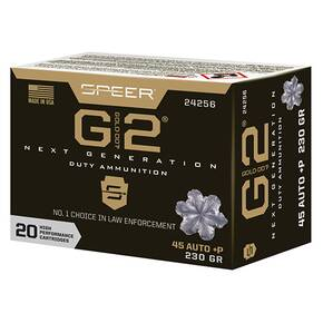 Speer Gold Dot Handgun Ammunition .45 Auto(+P) 230 gr G2 910 fps 20/ct