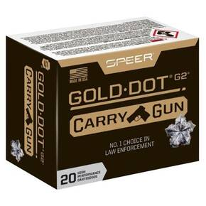 Speer Gold Dot Handgun Ammunition 9mm Luger 135gr HP 20/ct