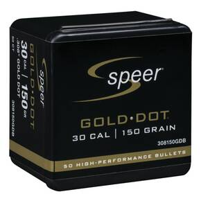 "Speer Gold Dot Component Rifle Bullets .308 cal .308"" 150 gr GOLD DOT SP 50/Box"