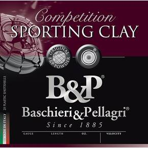 B&P Sporting Clays Shotshells- 12 ga 2-3/4 In 1 1/8 oz. #8 1260 fps 25/ct