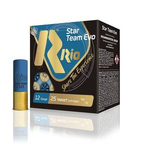 "Rio Star Team 12 ga 2 3/4"" MAX 1 1/8 oz #7.5 1300 fps - 25/box"