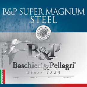 B&P Magnum Steel Shotshells- 12 ga 2-3/4 In 1-1/8 oz #4 1450 fps 25/ct