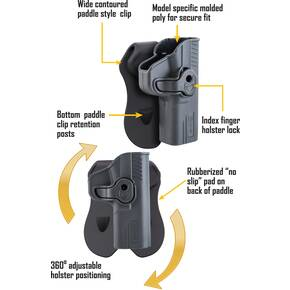 Tac Ops Holster S&W M&P 9mm