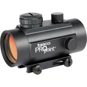 Tasco ProPoint Red Dot Sight - 1x30mm 5 MOA Red Dot Weaver Style Tip Off Mount - Black