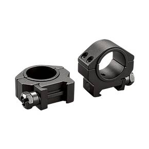 "Tasco Dual Purpose 1"" to 30mm Reducing Rings Low, Clam E/F - Matte Black"