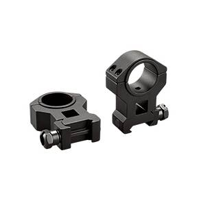 "Tasco Dual Purpose 1"" to 30mm Reducing Rings High, Clam E/F - Matte Black"