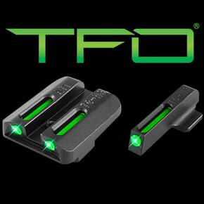 Truglo TFO Tritium/Fiber-Optic Day/Night Sights Kahr Set (Green/Green)