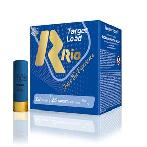 "Rio Target Load Trap 12 ga 2 3/4"" 2 3/4 dr 1 oz #7.5 1200 fps - 25/box"