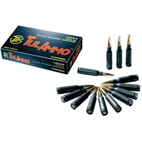 Tulammo rifle Ammunition 7.62X54R 148gr FMJ 20/ct