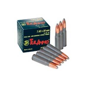 TulAmmo Rifle Ammunition 7.62mm X 39 122 gr HP 640/Case