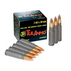 TulAmmo Rifle Ammunition 7.62x39mm 122 gr HP 2396 fps 40/box