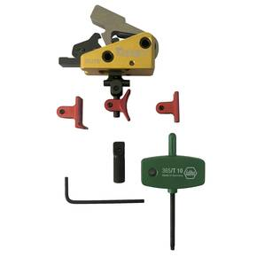 Timney Triggers Calvin Elite Custom for AR Platform 1.5 lb, Adjustable Shoe - Red