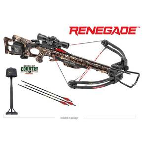 Tenpoint Renegade ACUdraw Crossbow Package with 3x Pro View 2 Scope - Break-Up Country Mossy Oak