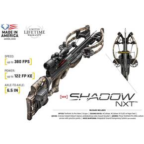 Tenpoint Shadow NXT Crossbow Package with Tenpoint 3X Pro-View 2 Scope & ACUdraw - Mossy Oak