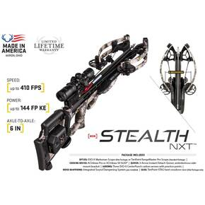 Tenpoint Stealth NXT Crossbow Package with Tenpoint Rangemaster Pro Scope & ACUdraw Cocking Device - Timber Viper