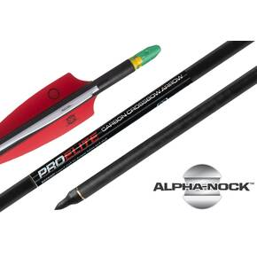 "TenPoint Pro Elite Carbon Arrows with molded ALPHA Nocks - 20"" 72/pk"
