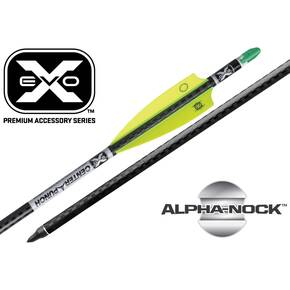 "Ten Point EVO-X CenterPunch Carbon Arrows 20"" with Molded ALPHA Nocks 6/pk"