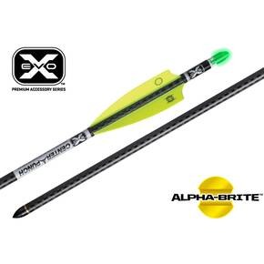 "Ten Point EVO-X CenterPunch Carbon Arrows 20"" with Molded ALPHA Brite Lighted Nocks 3/pk"