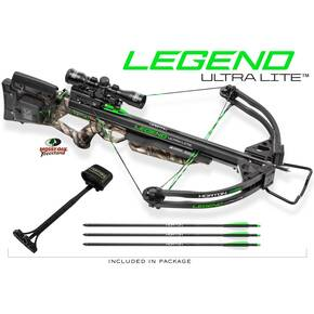 Horton Legend Ultra Lite Crossbow with 4x32 Multi-Line Scope and ACUdraw - Mossy Oak Treestand