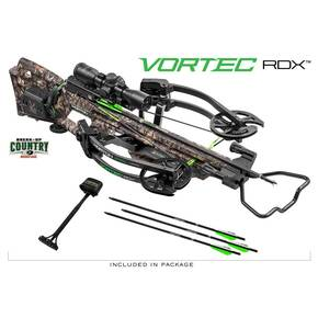 Horton Vortec RDX ACUdraw Crossbow Package with 3x Pro View 2 Scope - Break-up Country Mossy Oak