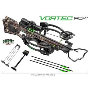 Horton Vortec RDX Crossbow Package with Dedd Sled 50  & Tenpoint 3x Pro View 2 Scope - Break-Up Country Mossy Oak