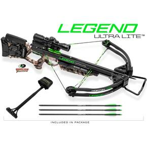 Horton Legend UltraLite Premium Crossbow Package ACUdraw50 3x ProView2 Scope - Mossy Oak Treestand