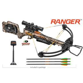 Wicked Ridge Ranger Premium Crossbow Package ACU52 3x MultiLine Scope - Camo