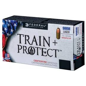 Federal Train+Protect Handgun Ammunition .40 S&W 180gr VHP 100/ct