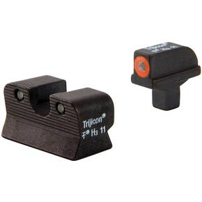 Trijicon 1911 Colt Cut HD Night Sight Set - Orange Front Outline