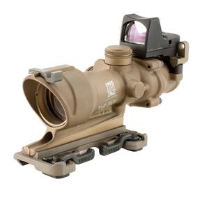 Trijicon ACOG 4x32 FDE Tritium Only Center Illum Amber