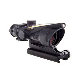 Trijicon BAC ACOG 4x32mm Scope - Dual Illuminated Amber Crosshair 300 BLK Reticle w/ TA51 Mount