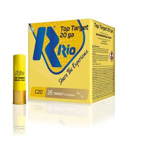 "Rio Top Target Shotshell 20 ga 2-3/4""  7/8 oz #9  25/Box"