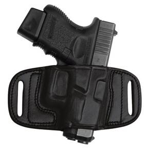 Tagua Gunleather Quick Draw Belt Holster for Ruger LCR Black Right Hand