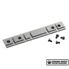Ruger 1-Piece Weaver-Style Aluminum Combination 10/22 Rifle Scope Base Adapter - Silver Powder Coated